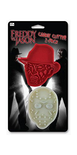 ICUP 8143 Freddy Vs Jason Cookie Cutter 2pk, Multicolor