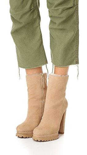 Alice + Olivia Womens Holden Shearlng Booties Tan Prime Semsket ...