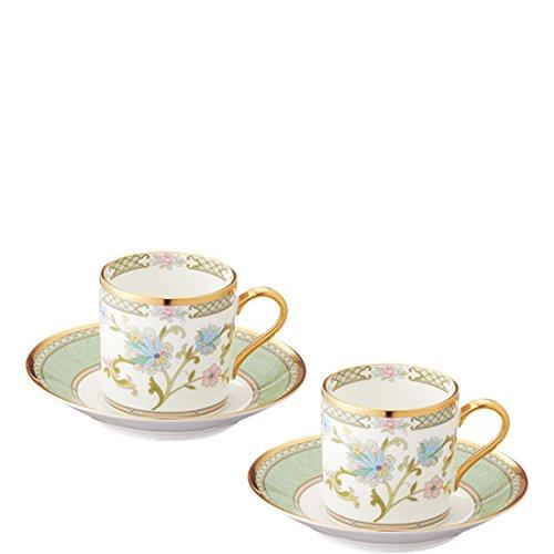 China Bone Noritake - Noritake bone china tea and coffee Yoshino bowl dish pair set Y6987/9983 (japan import)