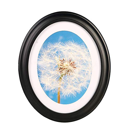 Picture Frame - Photo Frame Classic Wooden Oval Shape Wall Hanging Decoration Picture Frame with Seamless Nail and S Nail