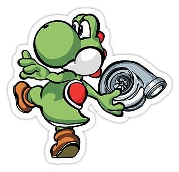 Yoshi throwing turbo size w8 7 x h8 2 centimeter skateboard laptop