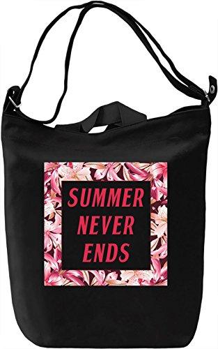 Summer Never Ends Borsa Giornaliera Canvas Canvas Day Bag  100% Premium Cotton Canvas  DTG Printing 