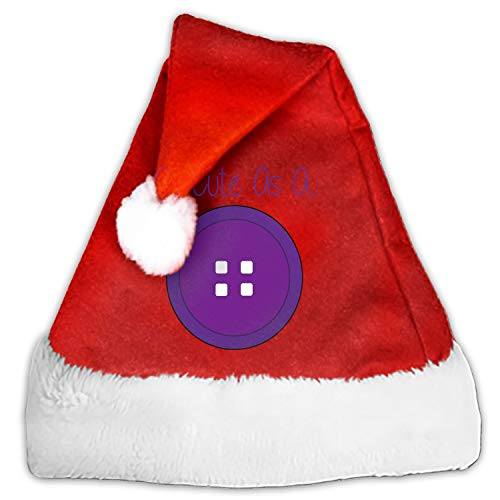 As Cute As A Button. Christmas Santa Hat Party Caps for Childrens and Adults Family Party ()