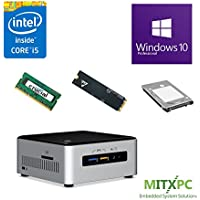 Intel BOXNUC6i5SYH Core i5-6260U NUC Mini PC w/ 8GB, 1TB M.2 SSD, 1TB 2.5 HDD, Windows 10 Pro - Configured and Assembled by MITXPC