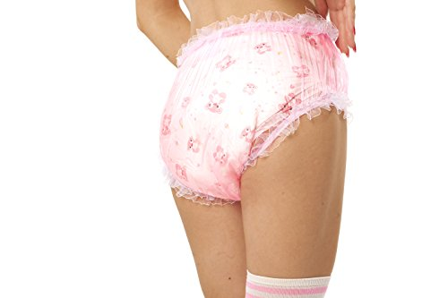 a008a837782c Amazon.com : Adult Baby Diaper Lover ASC Pink Frilly Plastic Diaper Covers  (X-Small) : Baby