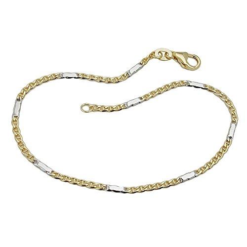 Stegpanzer 9Kt, bracelet bicolore or 19 cm