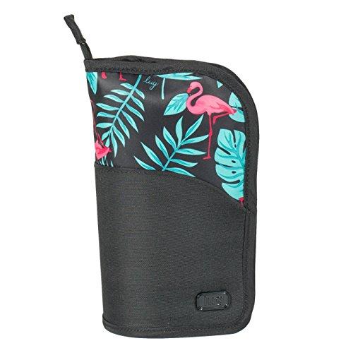Lug Women's Canoe Cosmetic Case, Flamingo Black ()