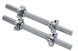Pro Iron 15.75 Inch Chrome Dumbbell Bar Diameter 1.125 Inch