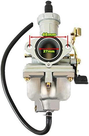 Yingshop PZ27 Carburetor Air filter fits 4-stroke CG 125cc 150cc 200cc 250cc ATV Go Kart Dirt Bike Taotao Sunl Buyang Coolsport Lifan Kazuma Zongshen Chinese Cable Choke 27mm Carb