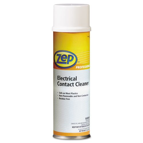Zep Professional Electrical Contact Cleaner, Neutral, 15oz Aerosol - Includes 12 bottles.