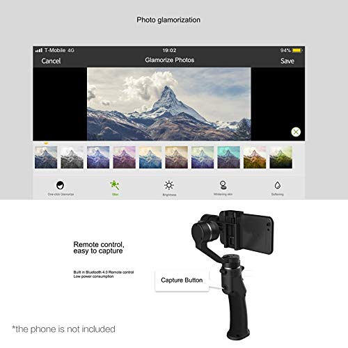 Wikiwand Funsnap Capture 3-Axis Smartphone Selfie Handheld Gimbal with Cam Adapter by Wikiwand (Image #2)