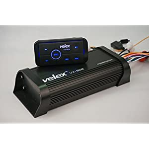 Water resistant Bluetooth Marine 4 Channel Class A/B Amplifier Media Stereo on Boats UTV ATV Golf Carts and Cars