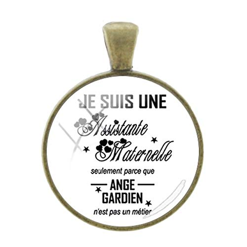 (Pendants -1Pc French Letters Words Pendants Teachers Mother Gift Charms 25Mm Glass Dome Fashion Classic Bronze Plated Jewelry- Ct271)