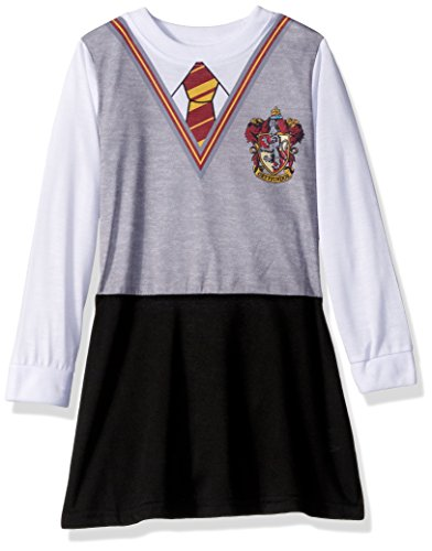 Intimo Big Girls' Harry Potter L/s Hermoine Gryffindor Uniform Night Gown, Multi, 14 (Harry Potter Uniform Shirt)