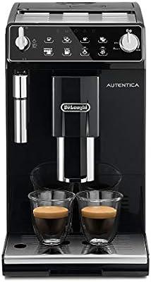 Delonghi Autentica - Cafetera Superautomática para Espresso y Cappuccino, 2 Tazas, Depósito de Agua de 1.3 l, Molinillo de Café Silencioso, Sistema de Auto-apagado, 1450 W, ETAM 29.510.B, Negro: Amazon.es: Hogar