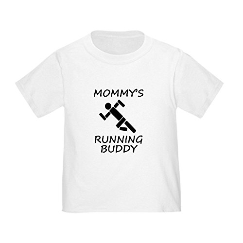 Pictogram Tee - CafePress Mommys Running Buddy T-Shirt Cute Toddler T-Shirt, 100% Cotton White