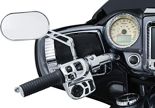 Kuryakyn 5182 Motorcycle Accent Accessory: Aztec Speaker Grills for 2017-2019 Indian Chieftain & Roadmaster Motorcycles, Chrome, 1 Pair
