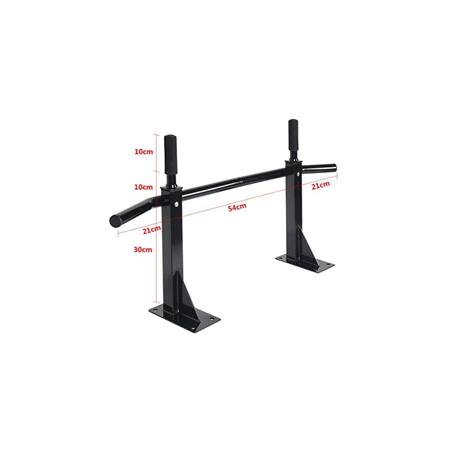 Funmall Heavy Duty Wall Mounted Training Bar Chin Up Pull Up Exercise Bar Sports Euipment