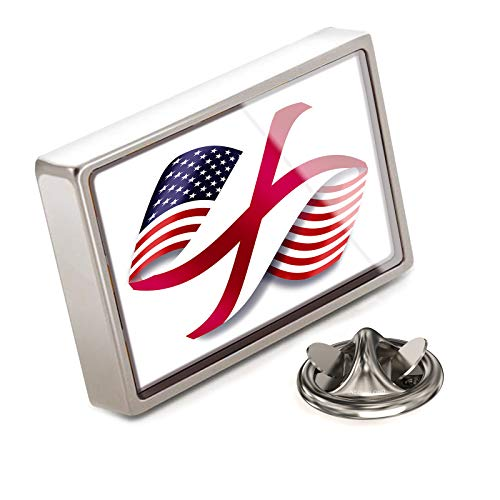 NEONBLOND Lapel Pin Infinity Flags USA and Alabama Region America (USA)