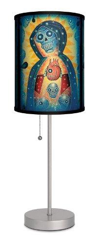 Lamp-In-A-Box SPS-FAR-JNSAN Featured Artists Joel Nakamura Santa Muerte Sport Silver Lamp, 7