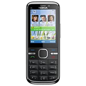 """Nokia C5 - Móvil libre (pantalla de 2,2"""" 320 x 240, cámara 5 MP, 50 MB de capacidad, procesador de 1 GHz) color negro [importado de Alemania]"""