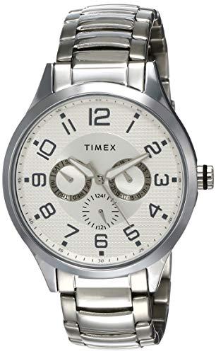 Timex Fashion Analog Silver Dial Men #39;s Watch   TW000T306