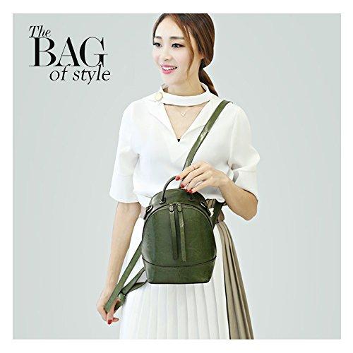 Yoome Mini mochila monedero de cuero de moda bolso de cremallera de múltiples vías mujeres bolso de hombro bolso rojo Verde