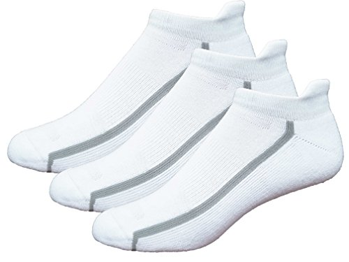 Mens 3-Pack No Show Tab Golf Socks (Medium