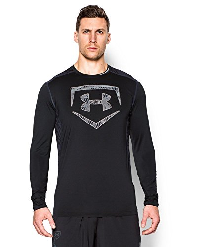 Under Armour Mens UA Raid Baseball Long Sleeve Shirt Larg...