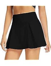 JieJieko Women Performance Golf Tennis Skirt Pleated Athletic Running Workout Skort Short