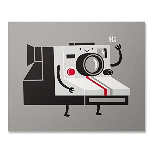 Cute Old Fashioned Cartoon Camera Art Print Funny Vintage Polaroid Photography Poster Insta Friend Picture Home