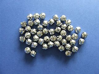 48 Silver 13mm Jingle Bells for Crafts | Craft Bells by Crafty Capers