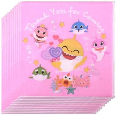 Pink Baby Shark Birthday Napkins 2 Sets of 20