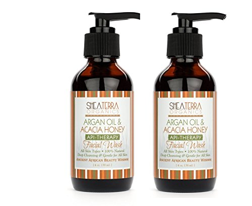 Ши Terra Organics- Аргана масло и мед акации Wash лице 2-Pack