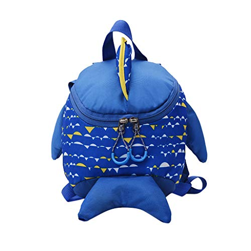 (Children Baby Girls&Boys Kids Cartoon Animal Backpack Toddler School Bag Blue)