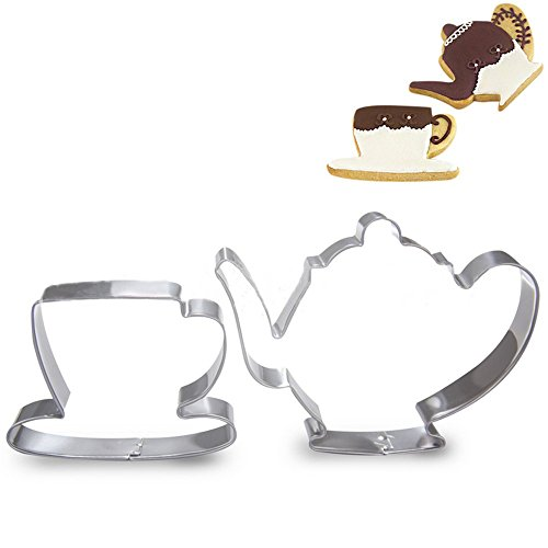 (3.3-inch Tea Pot Cup Biscuit Cookie Cutter - Stainless Steel)