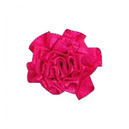 Berisford Ribbon Ruched Rosettes 175 Shocking Pink - per pack of 6