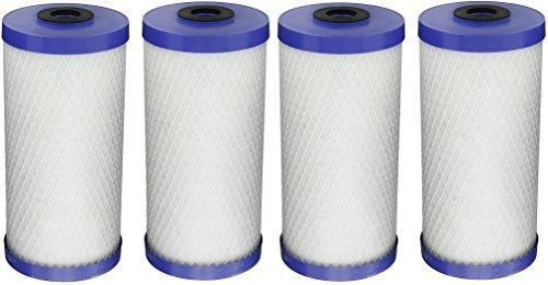 Pentek EP-BB Carbon Block Filter Cartridge, 9-3/4 x 4-5/8, 5 Microns (Pack of 4) by Pentek
