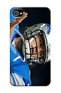 Detroit Lions Glossy Iphone 4/4S Tpu Protector Case Cover Nfl