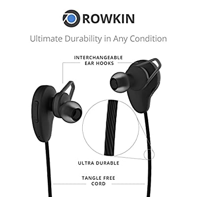 Rowkin Pulse Wireless Headphones, Bluetooth Earbuds, Stereo Hands-free Headset with Built-in Microphone & Noise Reduction Earphones for Sports, Running, Android, Samsung, and iPhone.