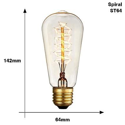 E27 Glow Ampoule St64 Ampoules 40w Incandescentes T10 T45 ZXiuPkOT