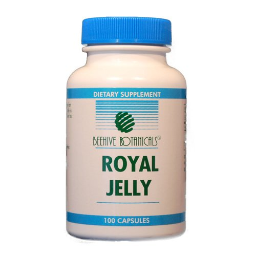 Jelly 500 Mg 50 Capsules - Beehive Botanicals Royal Jelly Capules - 500 Mg-100 Count