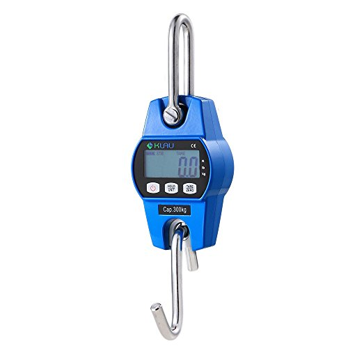 Klau Mini Weighing 300 kg / 600 lb OCS-L Industrial Crane Scale Digital Hanging Scale Blue for Indoor Farm Factory Outdoor