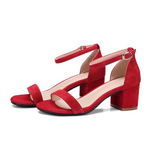 Ouvert Red Bout 36 Femme Rouge 5 SLC03931 AdeeSu EU xwP4fXqwE