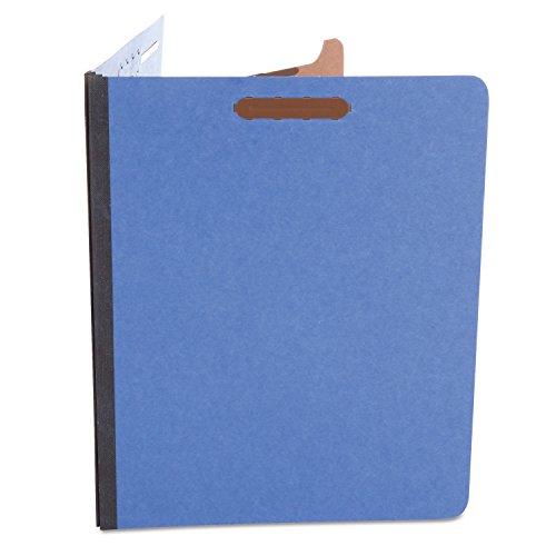 (Universal 10201 Pressboard Classification Folders, Letter, Four-Section, Cobalt Blue, 10/Box)