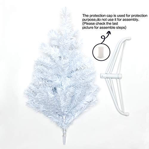 Bocca 5 FT Christmas Tree Atificial Premium Pine Full Tree with Metal Leg Indoor and Outdoor (White, 5FT) by Bocca (Image #3)