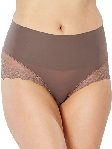 SPANX Women's Undie-Tectable Lace Hi Hipster, Umber Ash, X-Large