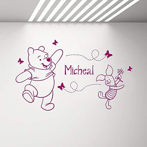 Baby Girl Boy Name Decal Cartoon Movie Cute Bear Animal Vinilo ...