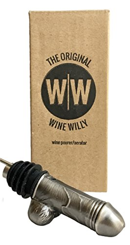 Adult Gag Gift Wine Pourer and Aerator by The Wine Willy The Most Manly Adult Novelty Gift for Wine Lovers Bachelorette Party Galentines Day Gifts and Gifts for Girlfriends Boyfriends - And Weird Bizarre Holidays