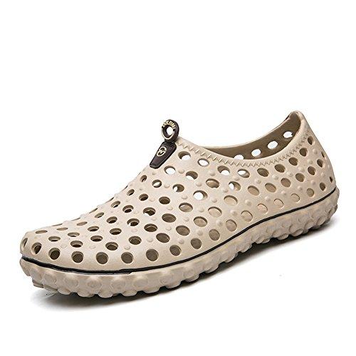 Leader Spectacle Mens Été Plage Respirant Sandales Casual Ultra Léger Doux Jardin Chaussures Kaki